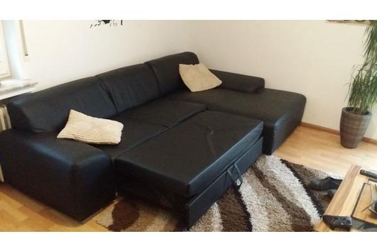 Ledercouch schwarz mit schlaffunktion  Ledersofa Mit Schlaffunktion - Haushalt & Möbel - gebraucht und ...