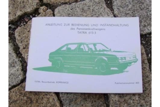 Betriebsanleitung Tatra 613 -