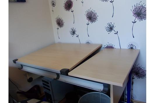 Schreibtisch Buche Nachbildung - Gewerbe & Business - gebraucht ...