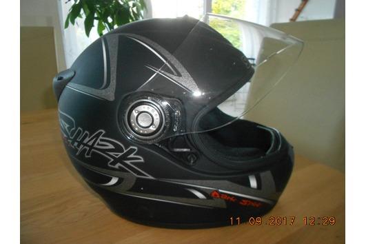 Motorradhelm-Shark-schwarz-