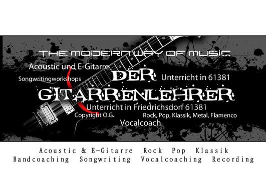 PROFESSIONELLER Gitarrenunterricht für