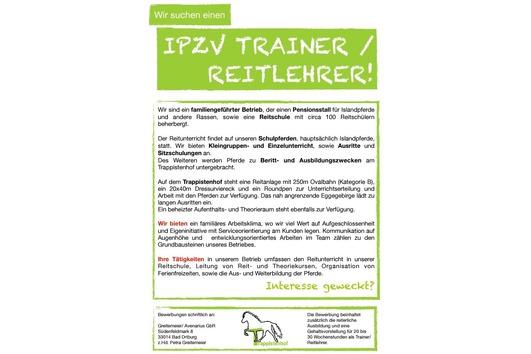 IPZV Trainer / Reitlehrer